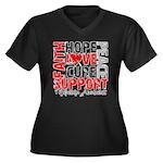 Hope Melanoma Women's Plus Size V-Neck Dark T-Shir