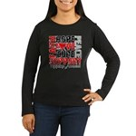 Hope Melanoma Women's Long Sleeve Dark T-Shirt