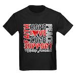 Hope Melanoma Kids Dark T-Shirt
