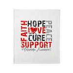 Hope Melanoma Throw Blanket