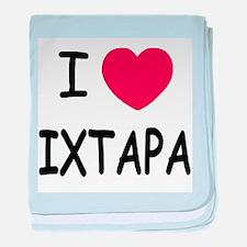 I heart Ixtapa baby blanket