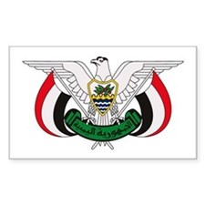 Yemen Coat of Arms Rectangle Decal