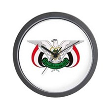 Yemen Coat of Arms Wall Clock
