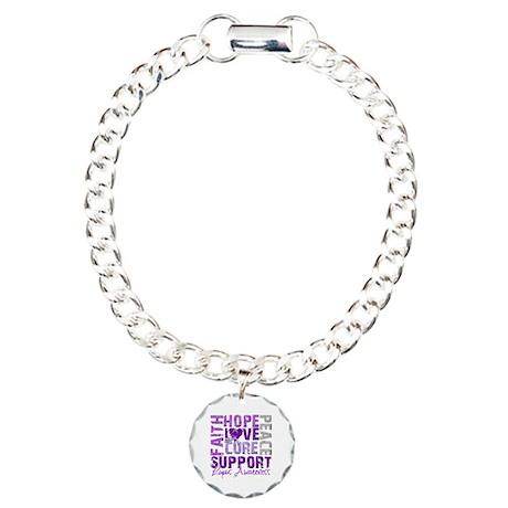 Hope Cure Lupus Charm Bracelet, One Charm