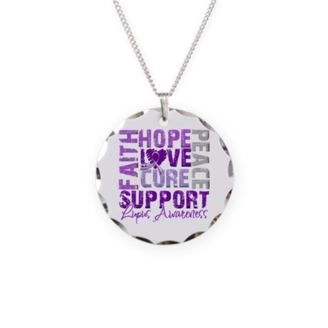 Hope Cure Lupus Necklace Circle Charm