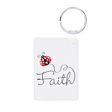 Ladybug Faith Aluminum Photo Keychain