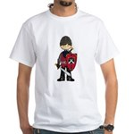 Cute Medieval Knight White T-Shirt