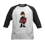 Cute Medieval Knight Kids Baseball Jersey