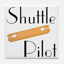 Shuttle Pilot Tile Coaster