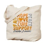 Hope Leukemia Tote Bag