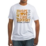 Hope Leukemia Fitted T-Shirt
