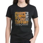 Hope Leukemia Women's Dark T-Shirt