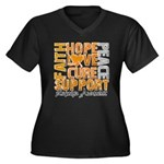 Hope Leukemia Women's Plus Size V-Neck Dark T-Shir