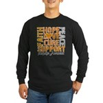 Hope Leukemia Long Sleeve Dark T-Shirt
