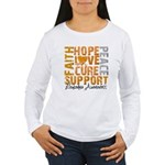 Hope Leukemia Women's Long Sleeve T-Shirt