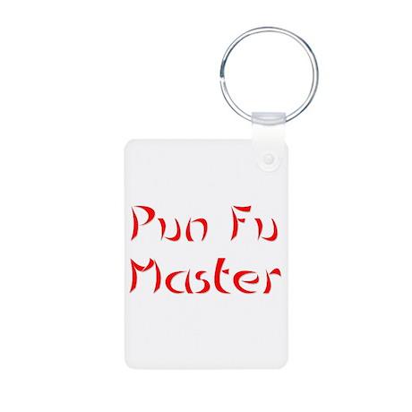 Pun Fu Master Aluminum Photo Keychain