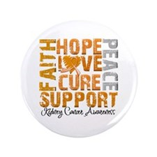 """Hope Kidney Cancer 3.5"""" Button (100 pack)"""