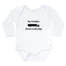 Grandpa Drives Big Rig Long Sleeve Infant Bodysuit