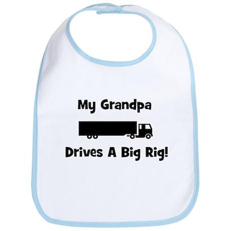 Grandpa Drives Big Rig Bib