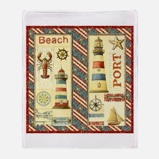 Funny Cape cod lighthouses Throw Blanket