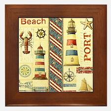 Cape cod lighthouses Framed Tile