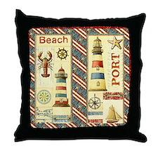 Cute Coastal Throw Pillow