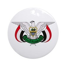 Yemen Coat of Arms Ornament (Round)