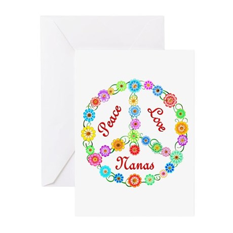 Peace Love Nanas Greeting Cards (Pk of 10)