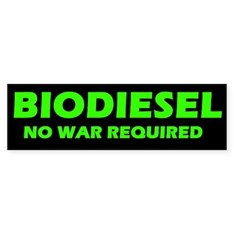 BIODIESEL No War Required (green)