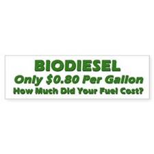 BIODIESEL 80 cents a gallon Green on White