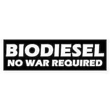 BIODIESEL No War Required (White)