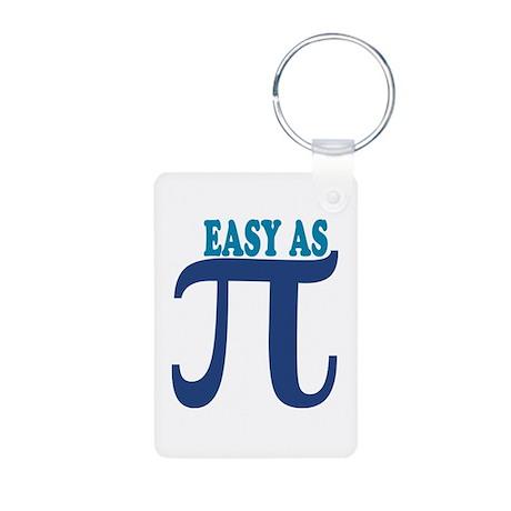 Easy as Pi Aluminum Photo Keychain
