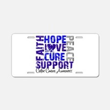 Hope Colon Cancer Aluminum License Plate