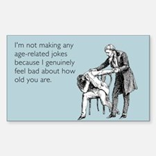 Age Related Jokes Decal