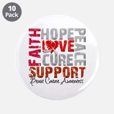 """Hope Brain Cancer 3.5"""" Button (10 pack)"""