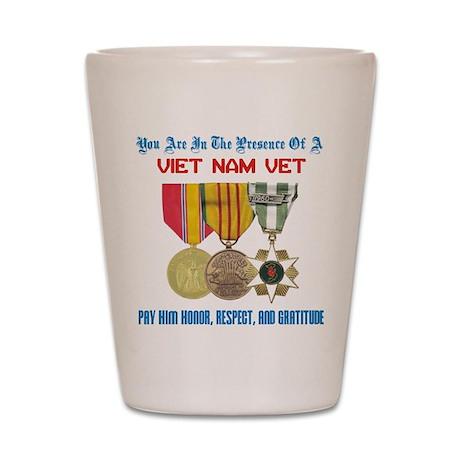 Presence of a Viet Nam Vet Shot Glass
