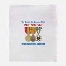 Presence of a Viet Nam Vet Throw Blanket
