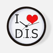 'I <3 DIS' Wall Clock