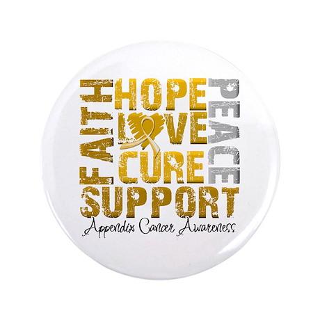 """Hope Appendix Cancer 3.5"""" Button"""