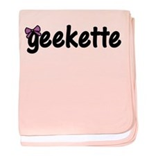 Geekette baby blanket