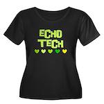 Cardiac Echo Tech Women's Plus Size Scoop Neck Dar