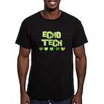 Cardiac Echo Tech Men's Fitted T-Shirt (dark)