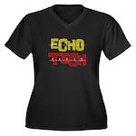 Cardiac Echo Tech Women's Plus Size V-Neck Dark T-