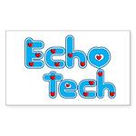 Cardiac Echo Tech Sticker (Rectangle 50 pk)