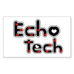 Cardiac Echo Tech Sticker (Rectangle 10 pk)