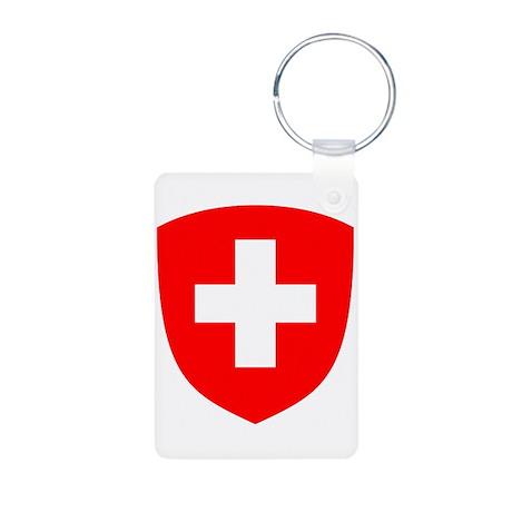 Swiss Crest Aluminum Photo Keychain