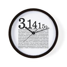 3.1415926 Pi Wall Clock