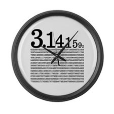3.1415926 Pi Large Wall Clock