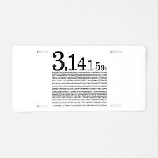 3.1415926 Pi Aluminum License Plate