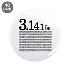 """3.1415926 Pi 3.5"""" Button (10 pack)"""
